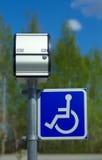Segno di parcheggio andicappato Fotografia Stock Libera da Diritti