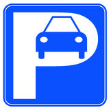 Segno di parcheggio dell'automobile illustrazione di stock