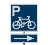 Segno di parcheggio della bici Immagine Stock