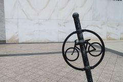 Segno di parcheggio della bicicletta Immagine Stock Libera da Diritti