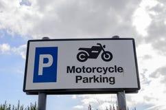 Segno di parcheggio della motocicletta Immagine Stock Libera da Diritti