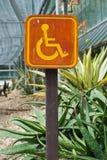 Segno di parcheggio per la gente di disable. Immagine Stock Libera da Diritti