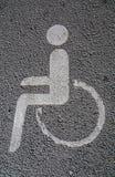 Segno di parcheggio reso non valido fotografie stock libere da diritti