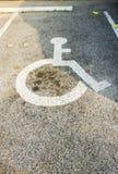 Segno di parcheggio reso non valido fotografia stock libera da diritti