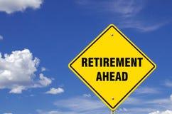 Segno di pensionamento avanti immagini stock