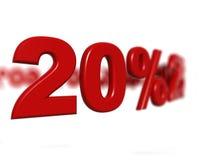 Segno di percentuale Fotografie Stock