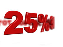 Segno di percentuale Immagine Stock Libera da Diritti