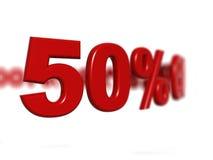 Segno di percentuale fotografia stock