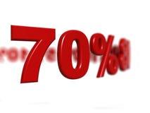 Segno di percentuale Fotografia Stock Libera da Diritti