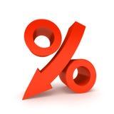 Segno di percentuale. Fotografia Stock