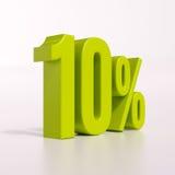 Segno di percentuale, 10 per cento Fotografia Stock Libera da Diritti