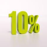 Segno di percentuale, 10 per cento Fotografie Stock Libere da Diritti