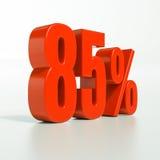 Segno di percentuale, 85 per cento Fotografia Stock Libera da Diritti