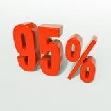 Segno di percentuale, 95 per cento Fotografie Stock