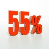Segno di percentuale, 55 per cento Fotografie Stock