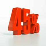 Segno di percentuale, 45 per cento Fotografia Stock Libera da Diritti