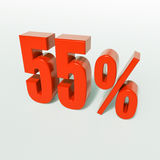 Segno di percentuale, 55 per cento Immagine Stock