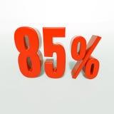 Segno di percentuale, 85 per cento Immagine Stock Libera da Diritti