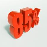 Segno di percentuale, 85 per cento Fotografie Stock