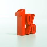 Segno di percentuale, 1 per cento Fotografie Stock