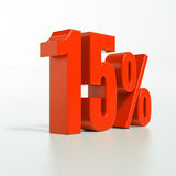 Segno di percentuale, 15 per cento Immagine Stock Libera da Diritti