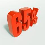 Segno di percentuale, 65 per cento Fotografie Stock