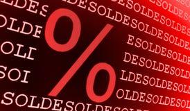 Segno di percentuale venduto Fotografie Stock Libere da Diritti