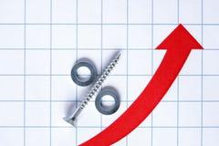 Segno di percentuali Immagine Stock