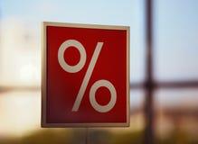 Segno di percentuali Immagini Stock Libere da Diritti