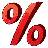 Segno di percentuali artistico Fotografia Stock Libera da Diritti