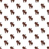 Segno di percentuali dall'alfabeto latino fatto di cioccolato illustrazione vettoriale