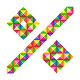 Segno di percentuali di origami Un effetto realistico di origami 3D della lettera isolato Figura dell'alfabeto, cifra illustrazione vettoriale