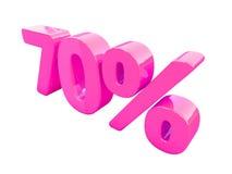 Segno di percentuali rosa isolato Immagine Stock Libera da Diritti