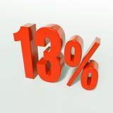 Segno di percentuali rosso Fotografie Stock Libere da Diritti