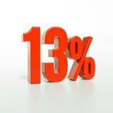 Segno di percentuali rosso Fotografia Stock