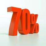 Segno di percentuali rosso Immagine Stock