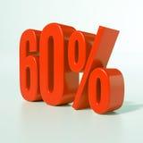 Segno di percentuali rosso Immagini Stock Libere da Diritti