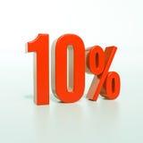 Segno di percentuali rosso Immagini Stock