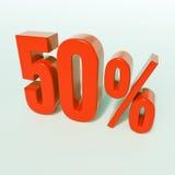 Segno di percentuali rosso Fotografie Stock