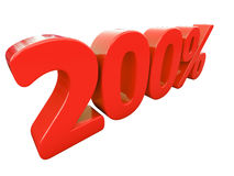 Segno di percentuali rosso isolato Fotografia Stock