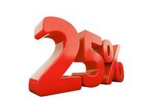 Segno di percentuali rosso isolato Fotografia Stock Libera da Diritti