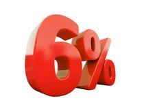 Segno di percentuali rosso isolato Immagini Stock Libere da Diritti