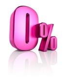 Segno di percentuali zero Fotografia Stock