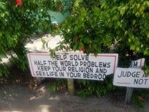 Segno di Placencia Belize immagine stock libera da diritti