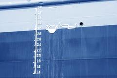 Segno di Plimsoll sulla nave Fotografia Stock Libera da Diritti