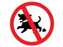 Segno di poop del cane Immagini Stock Libere da Diritti