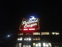 Segno di Portland Oregon fotografia stock libera da diritti
