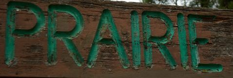 Segno di Prarie ad Iverson Park, Stevens Point, Wisconsn Fotografie Stock Libere da Diritti