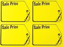 Segno di prezzi di vendita del garage Fotografie Stock