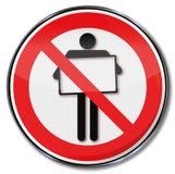 Segno di proibizione per i manifesti Fotografie Stock Libere da Diritti